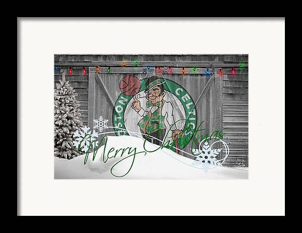 Celtics Framed Print featuring the photograph Boston Celtics by Joe Hamilton