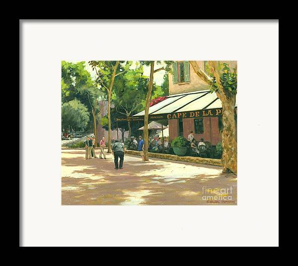 Boule Framed Print featuring the painting Boule Ball by Michael Swanson