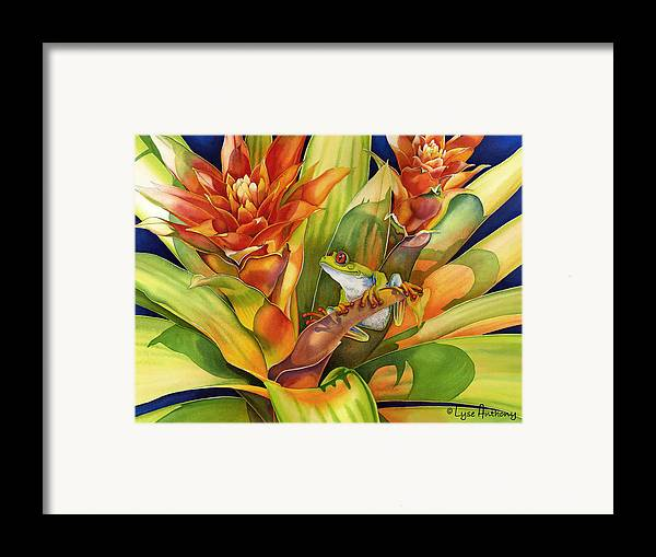 Frog Framed Print featuring the painting Bright Stars by Lyse Anthony