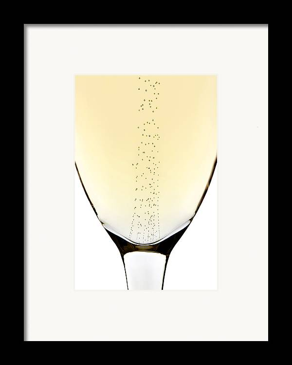Detail Framed Print featuring the photograph Bubbles In Champagne by Johan Swanepoel