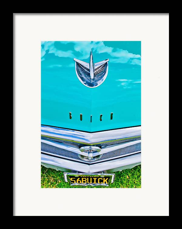 Blue Buick Framed Print featuring the photograph Buick Grill by Phil 'motography' Clark