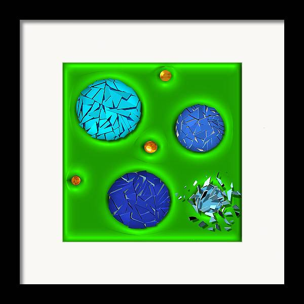 Abstract Framed Print featuring the digital art Bursting Point by Wendy J St Christopher
