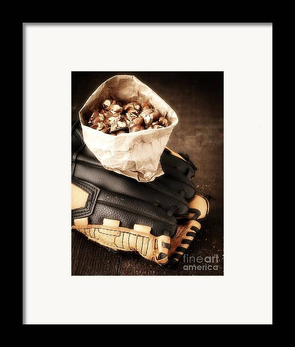Baseball Framed Print featuring the photograph Buy Me Some Peanuts And Cracker Jack by Edward Fielding