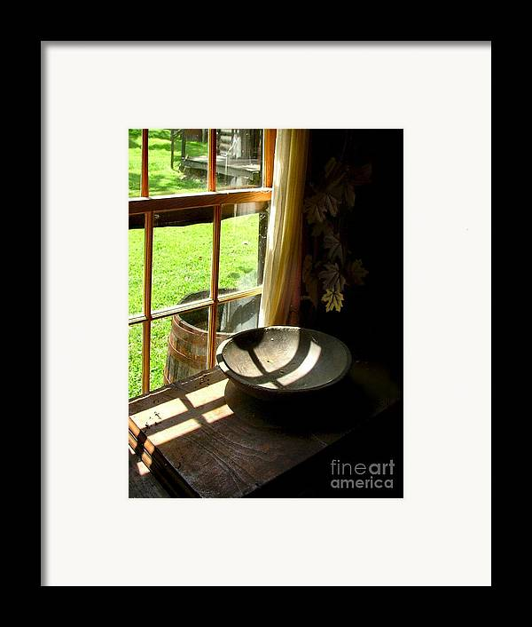 Log Cabins Framed Print featuring the photograph Cabin Crosses I by Julie Dant
