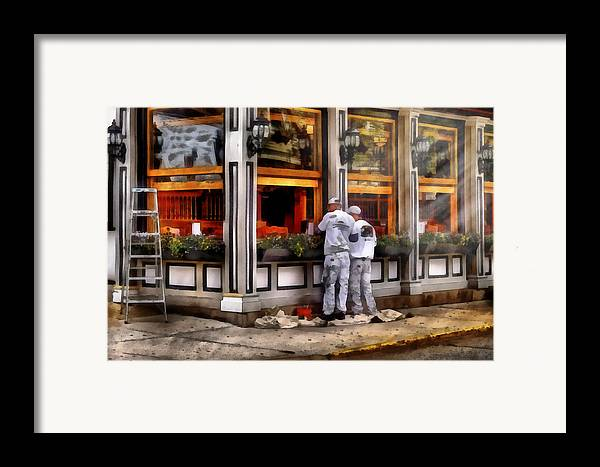 Savad Framed Print featuring the photograph Cafe - The Painters by Mike Savad