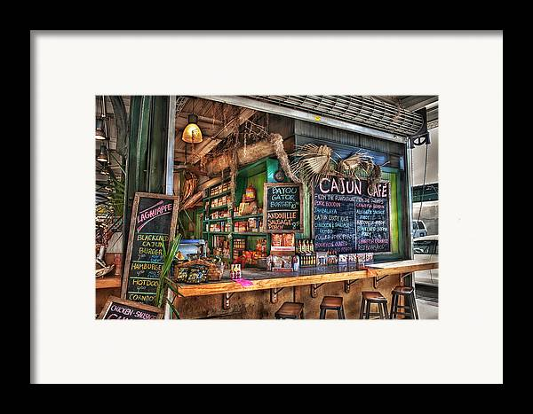 New Orleans Framed Print featuring the photograph Cajun Cafe by Brenda Bryant