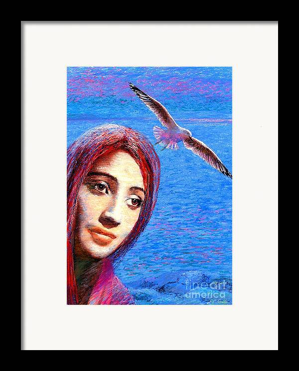 Mystical Framed Print featuring the painting Call Of The Deep by Jane Small