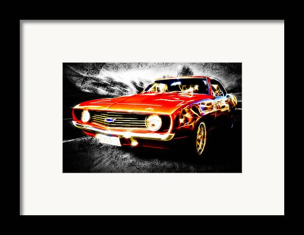 Red Camaro Framed Print featuring the photograph Camaro'd by Phil 'motography' Clark