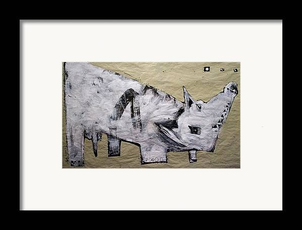 Art Framed Print featuring the painting Canis Et Sidera by Mark M Mellon