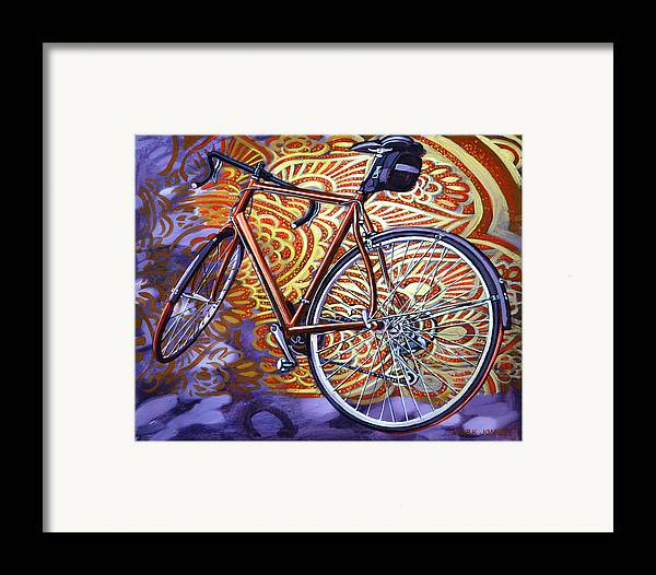 Bicycle Framed Print featuring the painting Cannondale by Mark Howard Jones