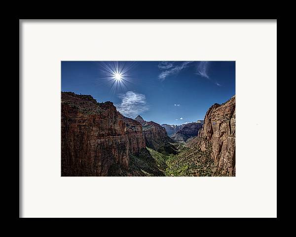 Jeff Framed Print featuring the photograph Canyon Overlook by Jeff Burton