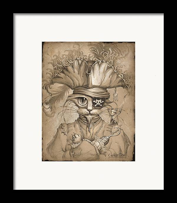 Jeff Haynie Framed Print featuring the painting Captain Claw by Jeff Haynie