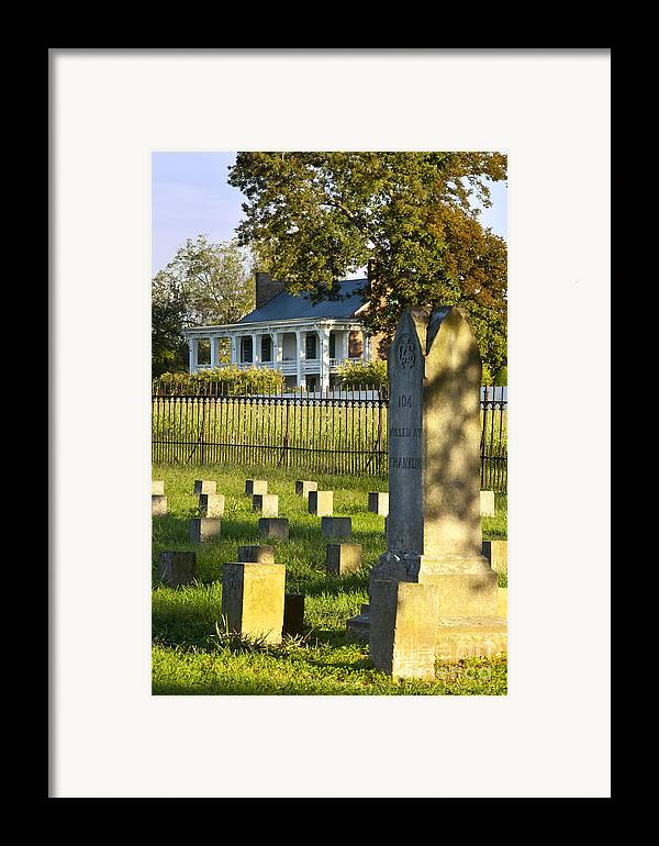 Carrie Mcgavock Framed Print featuring the photograph Carnton Plantation by Brian Jannsen
