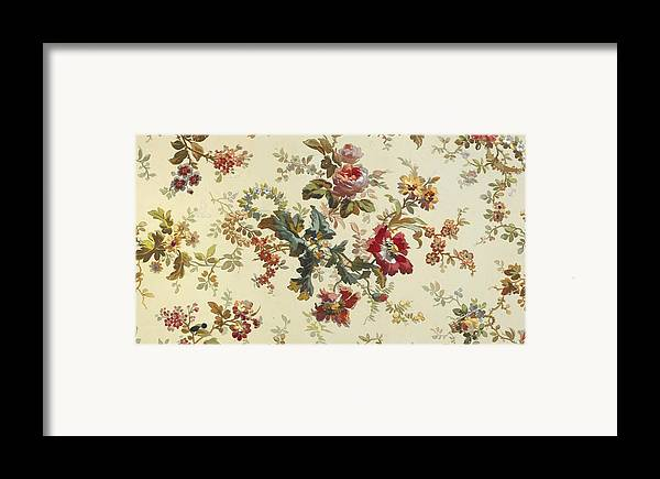 Pattern Framed Print featuring the tapestry - textile Carpet Design by English School