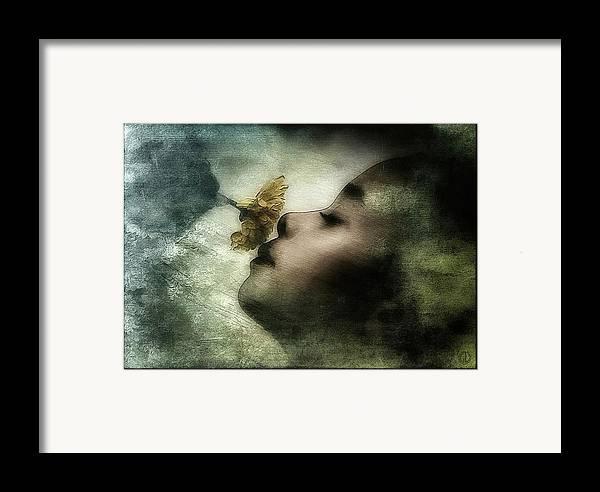 Girl Framed Print featuring the digital art Carried Away By A Scent by Gun Legler