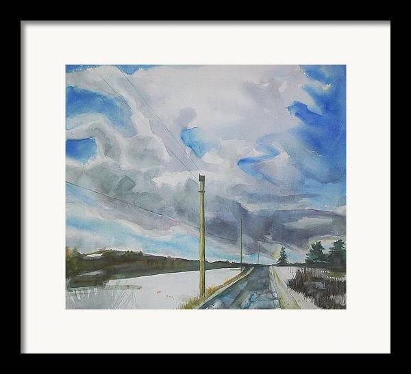 Maine Landscape Framed Print featuring the painting Carry On by Grace Keown