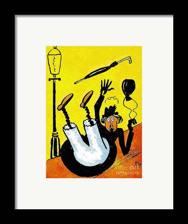 Artist Framed Print featuring the painting Cartoon 07 by Svetlana Sewell