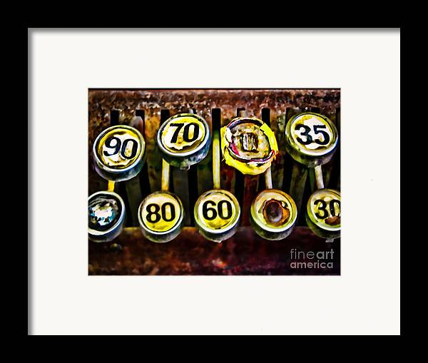 Register Framed Print featuring the photograph Cash Out by Colleen Kammerer