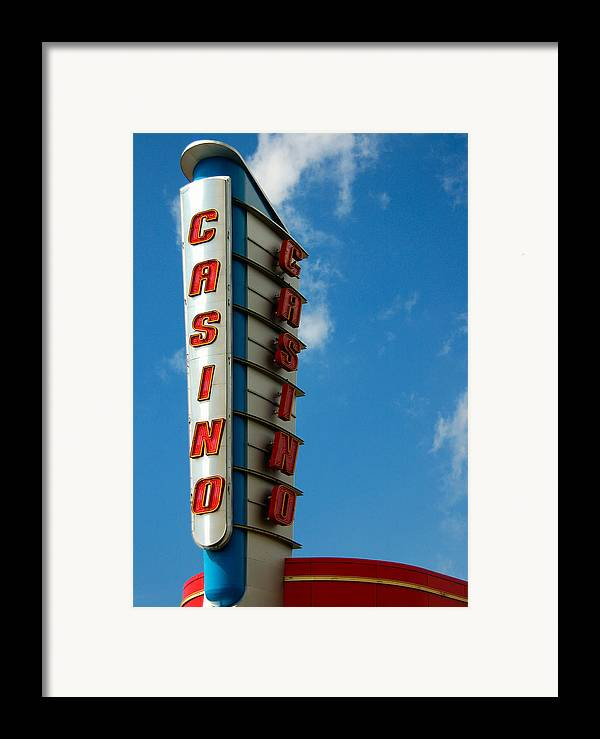 Casino Framed Print featuring the photograph Casino Sign by Norman Pogson