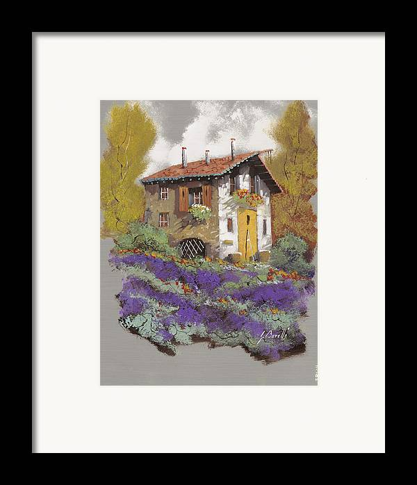 Landscape Framed Print featuring the painting Cento Lavande by Guido Borelli