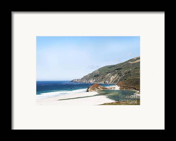 Big Sur Framed Print featuring the photograph Central Coast Beach Near Cambria And San Simeon by Artist and Photographer Laura Wrede