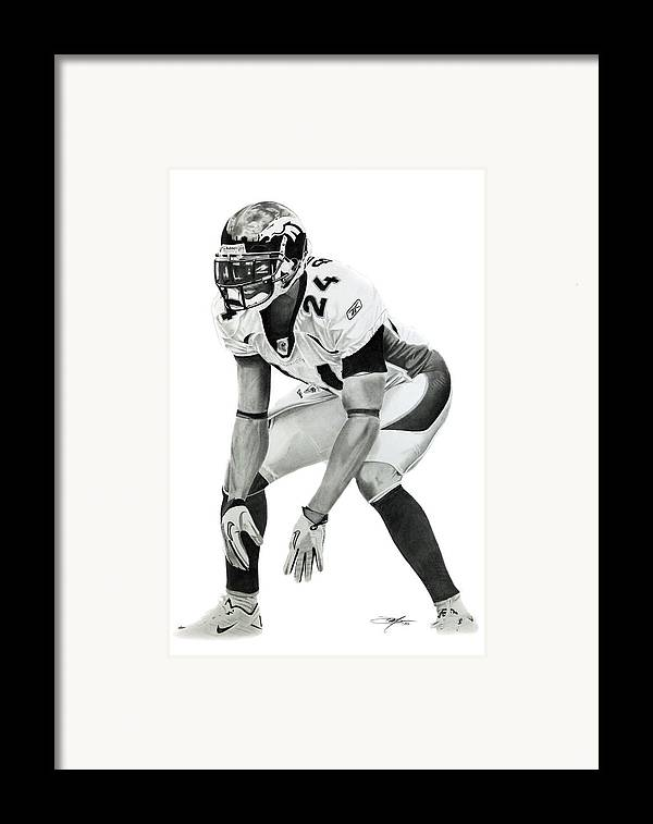 Champ Framed Print featuring the drawing Champ by Don Medina