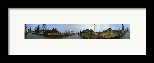 Charles Bridge Photographs Framed Print featuring the photograph Charles Bridge 360 by Gary Lobdell