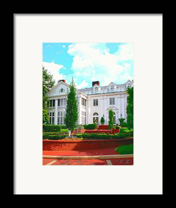 Charlotte Framed Print featuring the photograph Charlotte Estate Charlotte Nc by William Dey