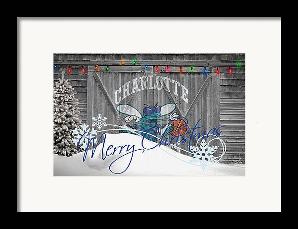 Hornets Framed Print featuring the photograph Charlotte Hornets by Joe Hamilton
