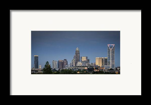 Charlotte Framed Print featuring the photograph Charlotte Skyline - Clear Evening by Brian Young