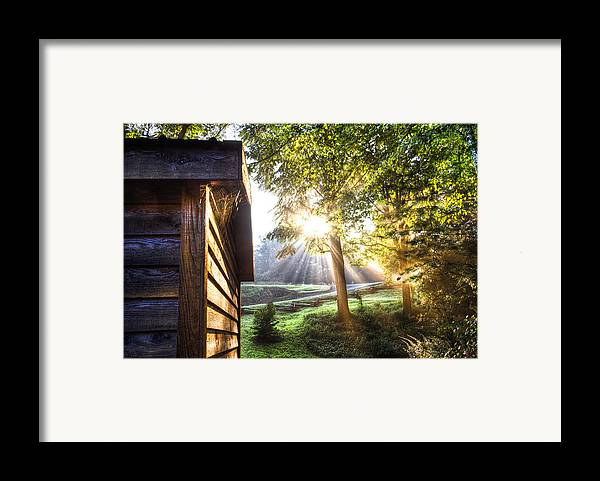 Andrews Framed Print featuring the photograph Charlotte's Web by Debra and Dave Vanderlaan