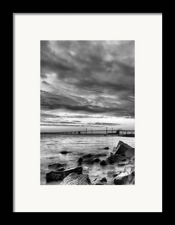 Chesapeake Bay Framed Print featuring the photograph Chesapeake Mornings Bw by JC Findley