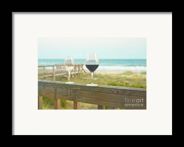 Wine Framed Print featuring the photograph Choices At The Beach by Kay Pickens