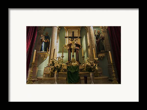 Altar Framed Print featuring the photograph Church Altar by Aged Pixel