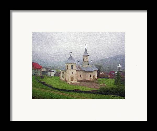 Chapel Framed Print featuring the painting Church In The Mist by Jeff Kolker