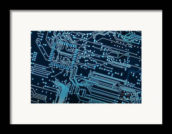 Abstract Framed Print featuring the photograph Circuit Board by Carlos Caetano