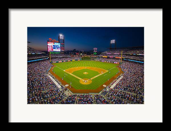 Citizens Bank Park Framed Print featuring the photograph Citizens Bank Park Philadelphia Phillies by Aaron Couture