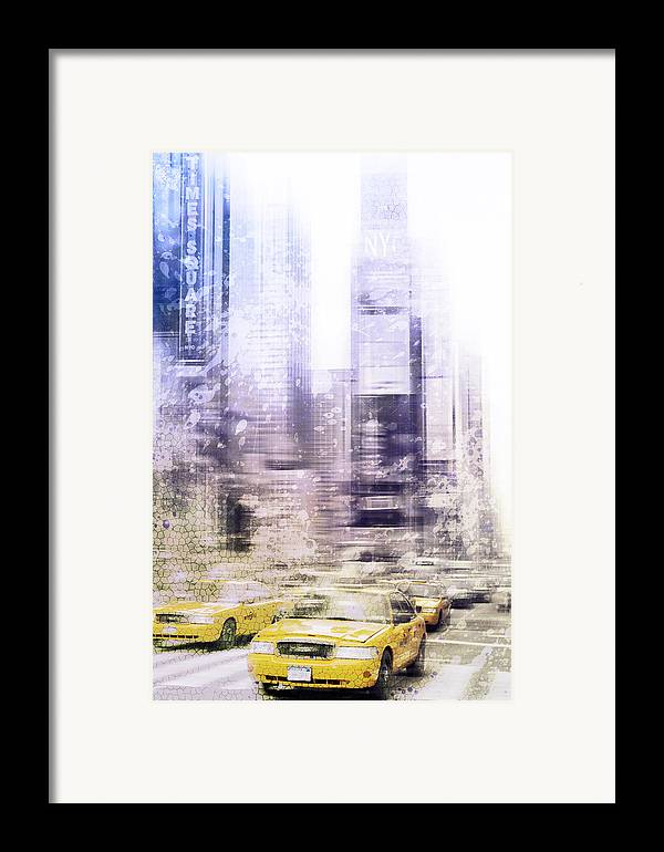 Big Apple Framed Print featuring the photograph City-art Times Square I by Melanie Viola