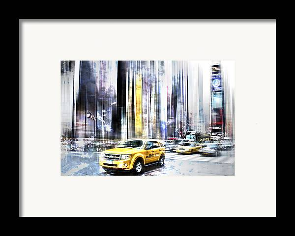 Big Apple Framed Print featuring the photograph City-art Times Square II by Melanie Viola