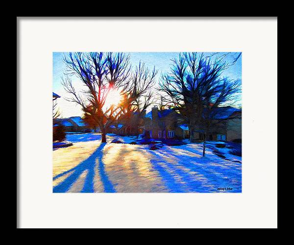 Cold Framed Print featuring the painting Cold Morning Sun by Jeff Kolker