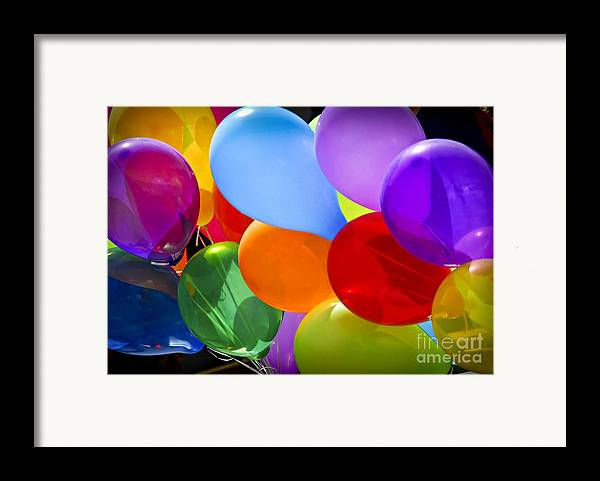 Balloons Framed Print featuring the photograph Colorful Balloons by Elena Elisseeva
