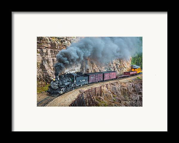 America Framed Print featuring the photograph Coming Around The Corner by Inge Johnsson