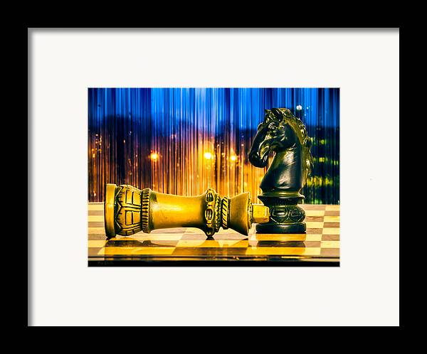 Chess Framed Print featuring the photograph Condescending Knight by Bob Orsillo