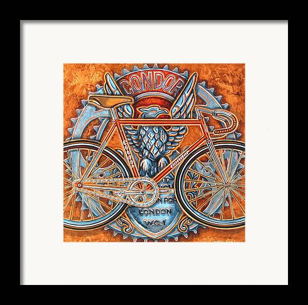 Bicycle Framed Print featuring the painting Condor Fixed by Mark Howard Jones