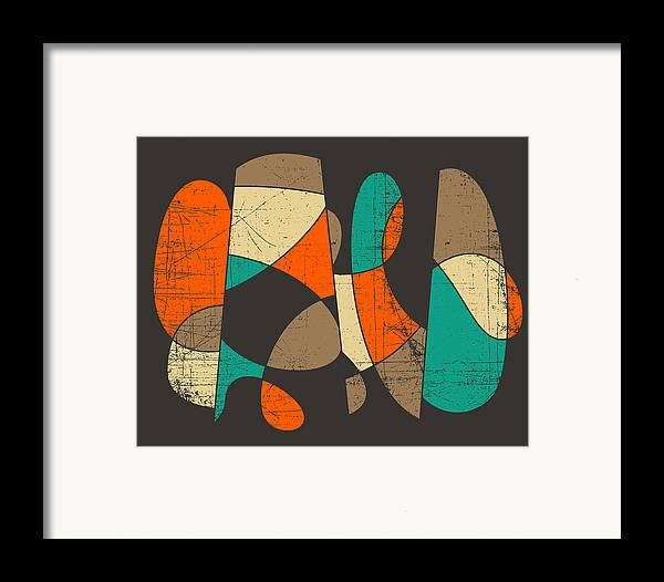 Retro Framed Print featuring the digital art Connected by Jazzberry Blue