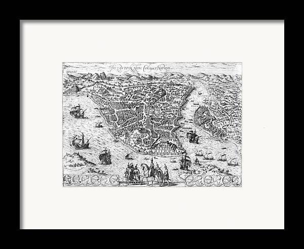 1576 Framed Print featuring the photograph Constantinople, 1576 by Granger