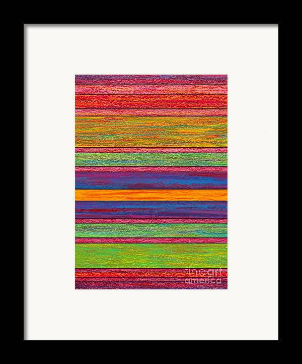 Colored Pencil Framed Print featuring the painting Contrast by David K Small