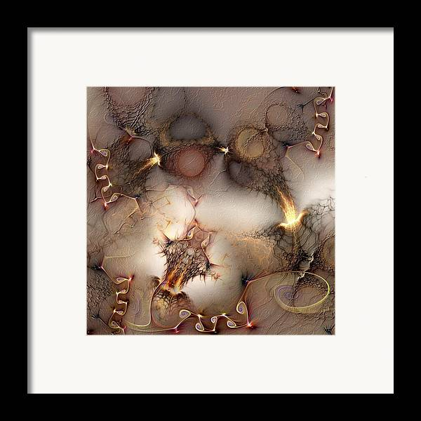 Abstract Framed Print featuring the digital art Controversy by Casey Kotas