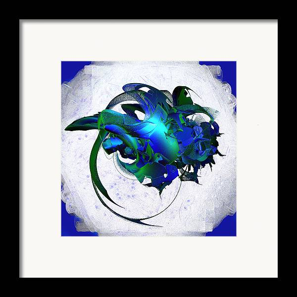 Abstract Framed Print featuring the digital art Cosmic Jewels On A Cloud by Linda Phelps