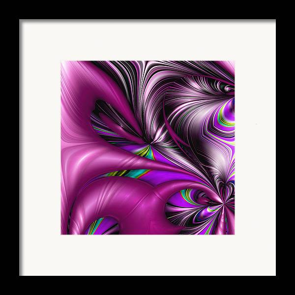 Abstract Framed Print featuring the digital art Counterpoint by Wendy J St Christopher